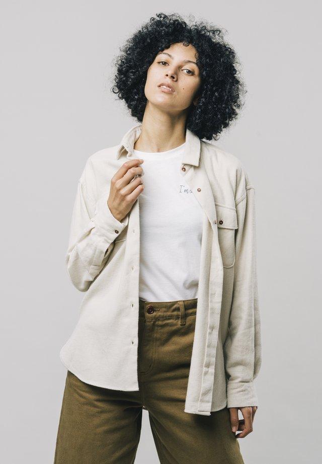 ALASKA - Button-down blouse - white