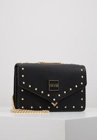Versace Jeans Couture - STUDDED SHOULDER BAG - Borsa a tracolla - black - 0