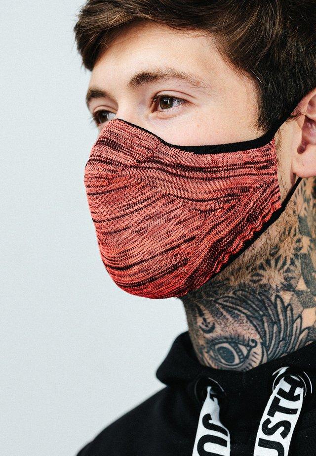 Stoffen mondkapje - pink/black