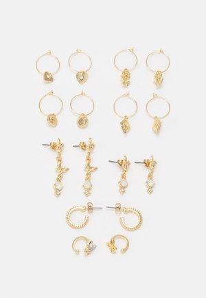 EARRINGS 8 PACK - Earrings - gold-coloured