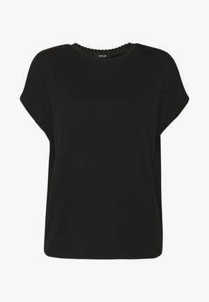 SUDELLA CROCHET - T-shirt basic - black