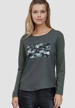 Long sleeved top - light grey/khaki