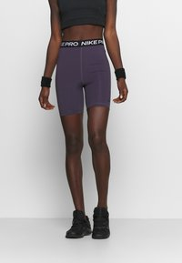 Nike Performance - SHORT HI RISE - Tights - dark raisin/black - 0