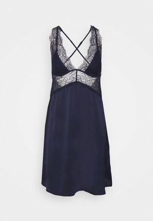 STRAPS SHORT NIGHTDRESS - Nightie - blue night