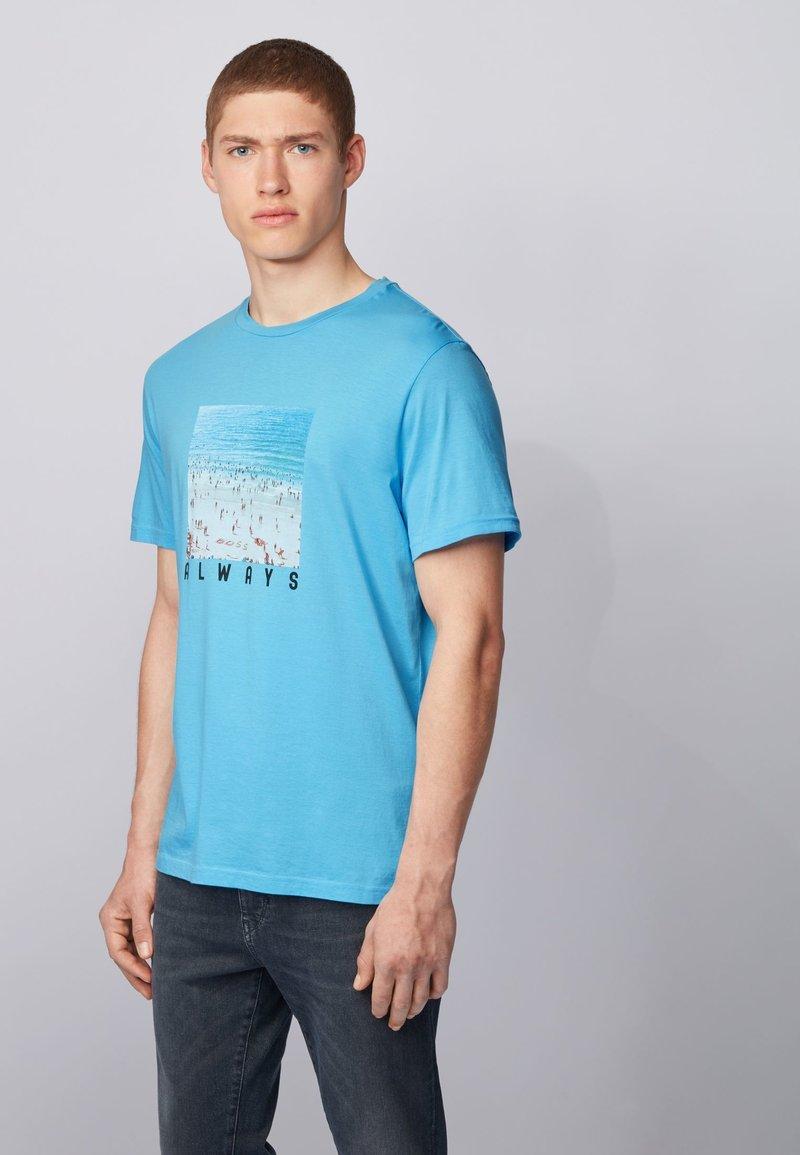 BOSS - TMIX - Print T-shirt - Turquoise