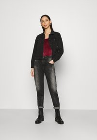 Diesel - D-FAYZA - Džíny Relaxed Fit - washed black - 1