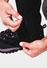 IZAS - Outdoor trousers - black/dark grey/lime - 3