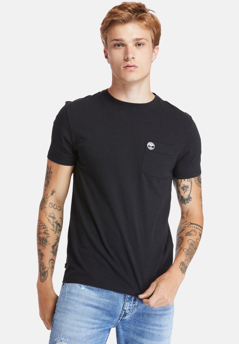 Timberland - SS DUNSTAN RIVER POCKET TEE - Basic T-shirt - black