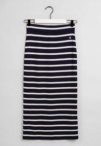 GANT - BRETON STRIPE SKIRT - Pencil skirt - evening blue - 7