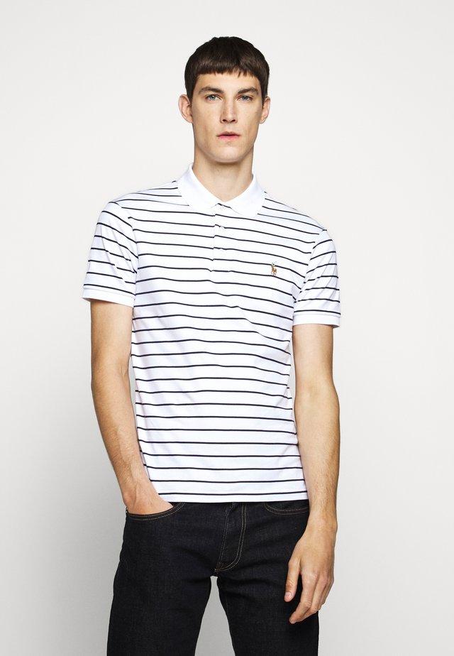 PIMA POLO - Poloshirt - white/french navy