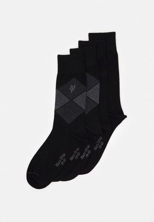 SOCKS 4 PACK - Socks - black
