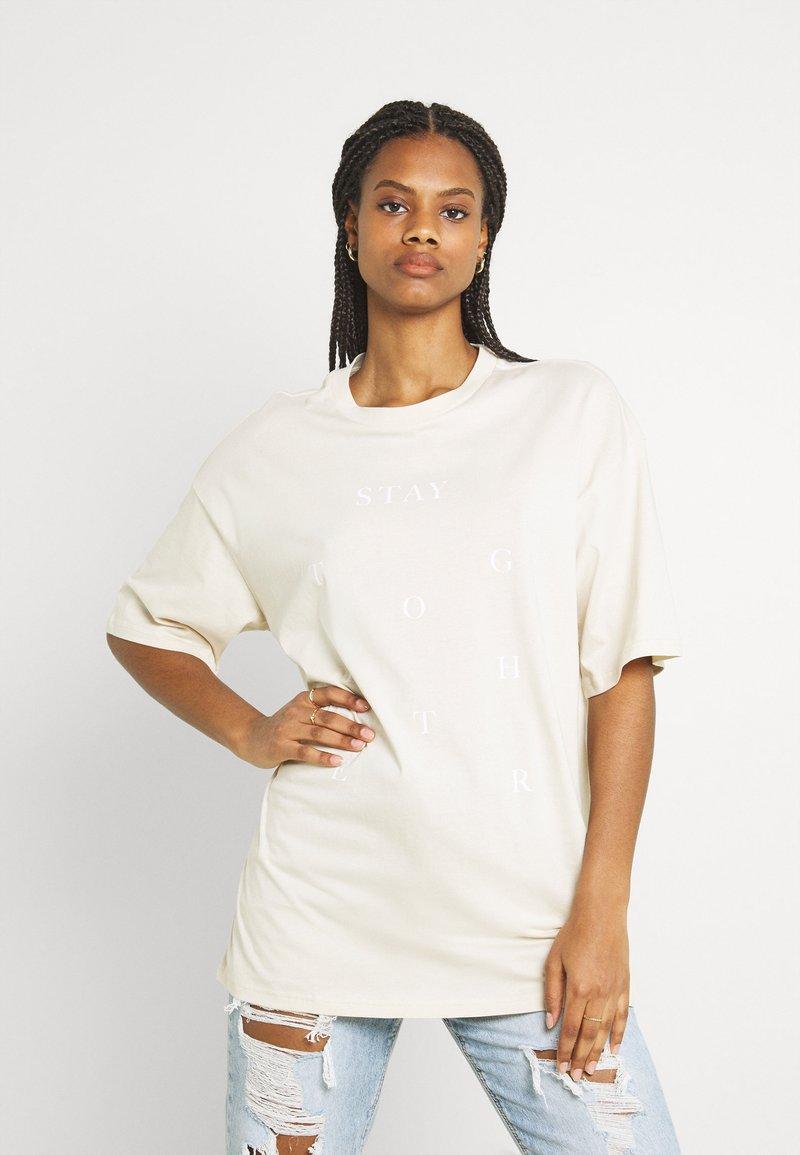 Monki - CISSI TEE - Print T-shirt - beige dusty light