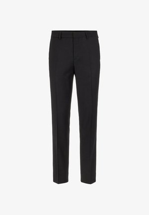 LEO FLANNEL - Suit trousers - black