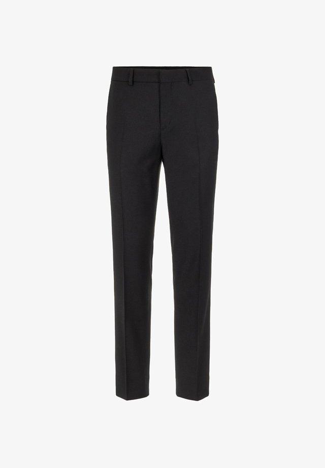LEO FLANNEL - Spodnie garniturowe - black
