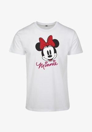 MINNIE MOUSE TEE - Print T-shirt - white