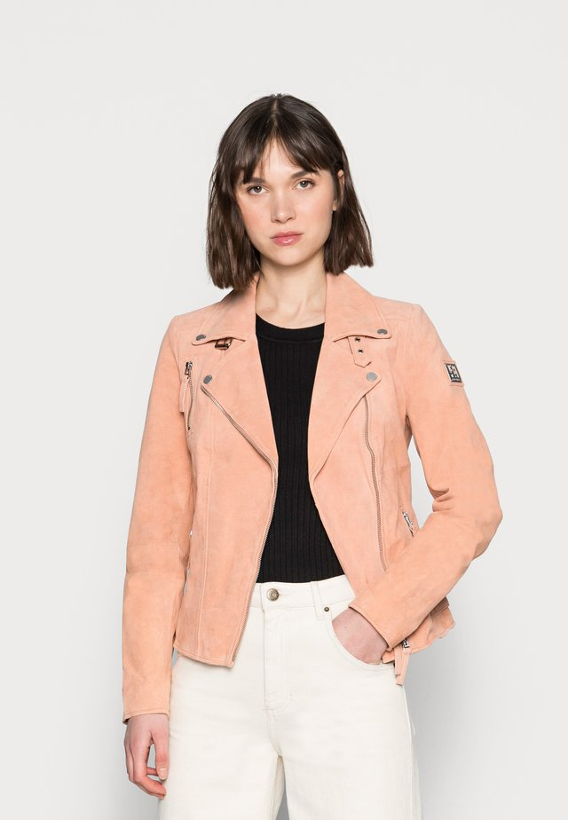 BIKER PRINCESS - Leather jacket - peach nectar
