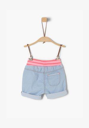 KURZE BABY MIT UMSCHLAGBUND - Denim shorts - blue