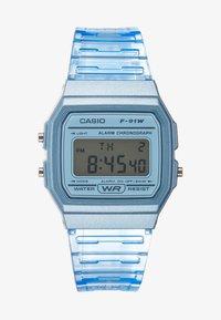 Casio - F-91WS-2EF - Digitální hodinky - blue - 0