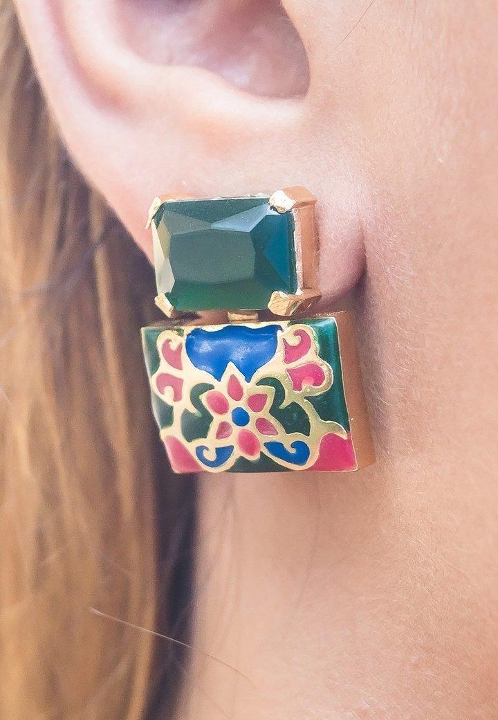 Bombay Sunset - Earrings - green