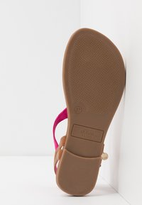 s.Oliver - Flip Flops - fuxia/cognac - 6