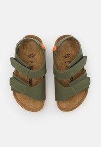 Birkenstock - PALU LOGO - Sandals - desert soil moss green/orange - 3