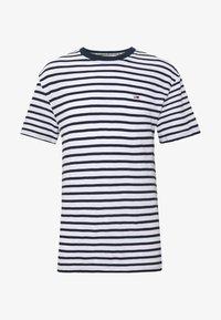Tommy Jeans - STRIPE TEE - T-shirt z nadrukiem - twilight navy / white - 4