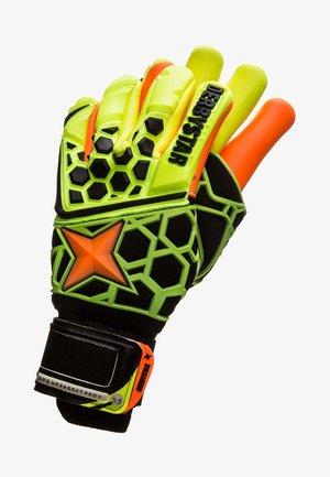 APS HEXASOFT PRO 1 - Goalkeeping gloves - yellow / black / orange