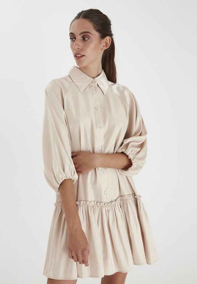 Shirt dress - frosted almond
