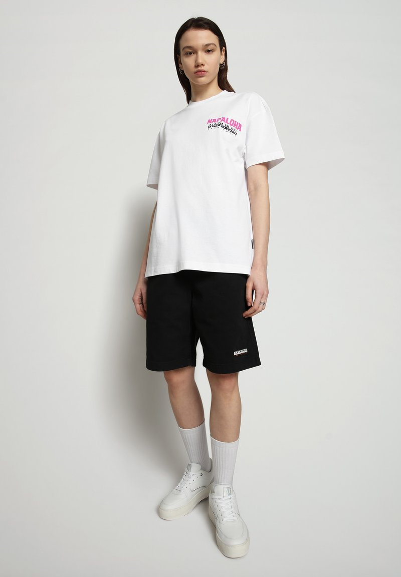 Napapijri - S-ALHOA - T-shirt med print - white graph n