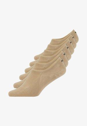 INVISIBLE SNEAKER - 6 PACK - Trainer socks - dunkel beige