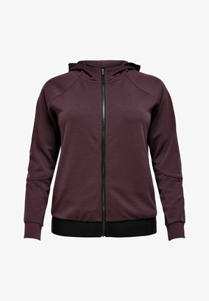 ONPNYLAH ZIP HOOD CURVY - Training jacket - fudge