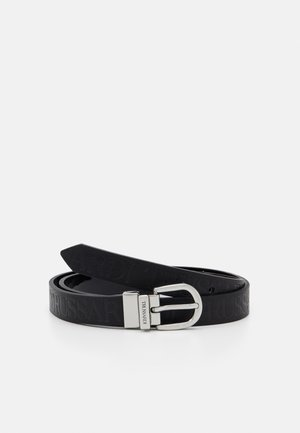 LOGO REGULAR BELT PATENT - Ceinture - black