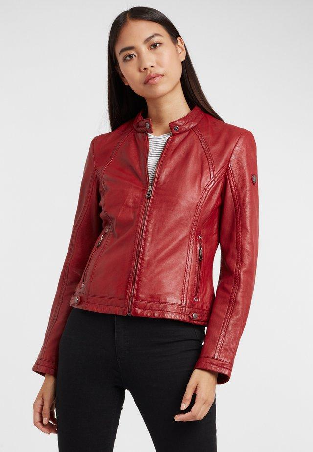 GGJANY LAMAS - Leren jas - dark red