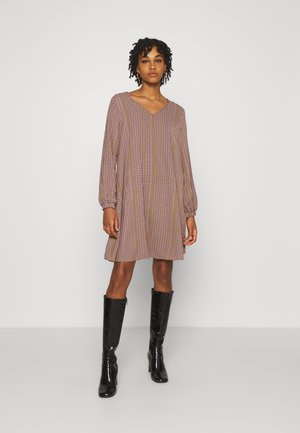 VIPOKE V NECK SHORT DRESS - Day dress - tigers eye