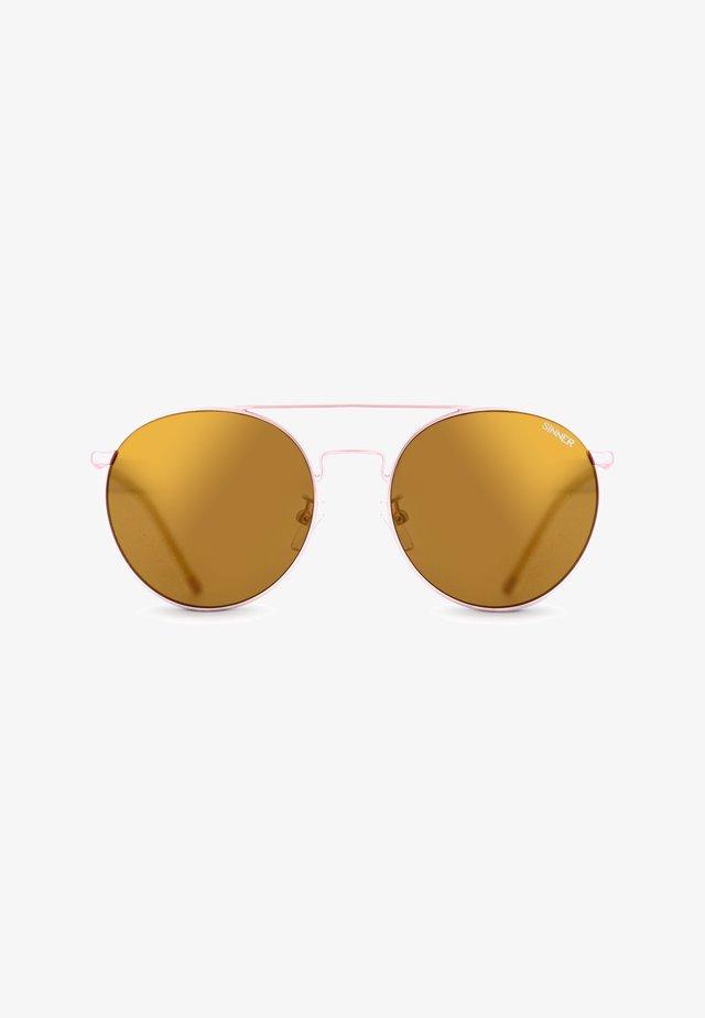 Aurinkolasit - rose gold metal