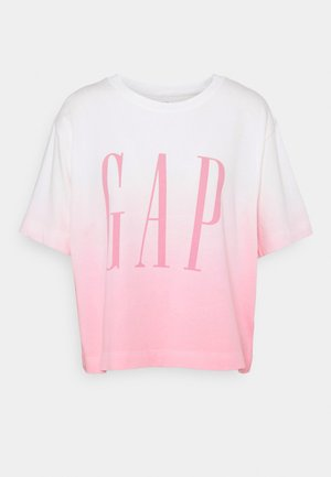 BOXY TEE - T-shirt con stampa - pink ombre