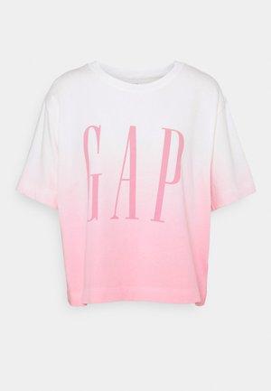 BOXY TEE - Camiseta estampada - pink ombre