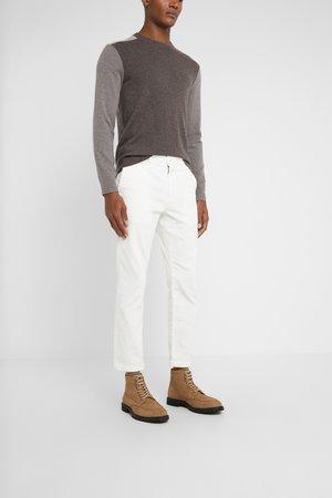 ATELIER CROPPED - Spodnie materiałowe - ivory