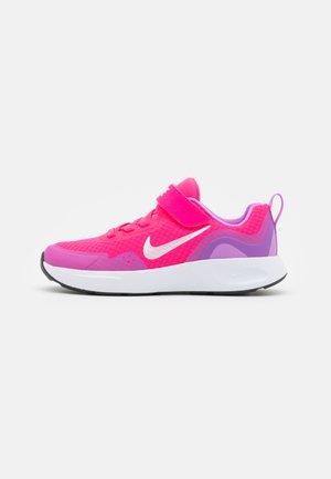 WEARALLDAY UNISEX - Trainers - hyper pink/white/fuchsia glow/dark smoke grey