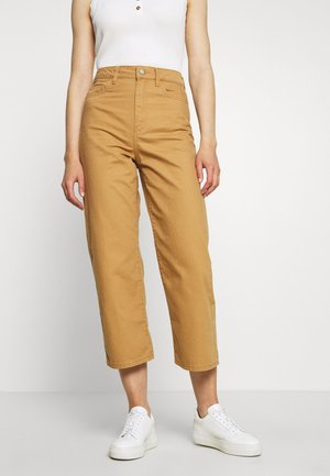VMKATHY LOOSE CROPPED - Džíny Straight Fit - tobacco brown