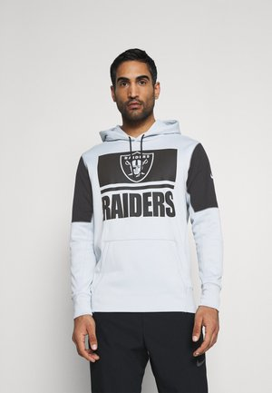 NFL OAKLAND RAIDERS MASCOT STACK HOODIE - Mikina s kapucí - field silver/black