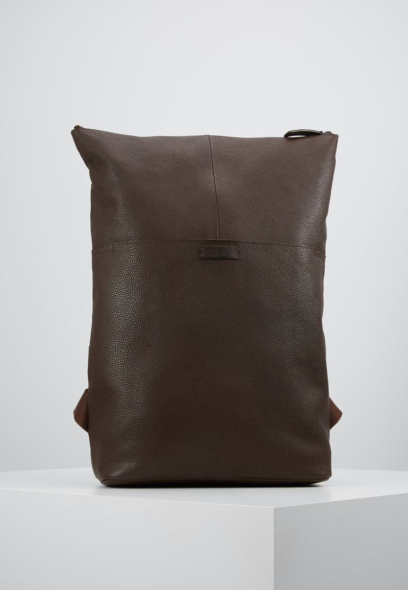 Zign - UNISEX LEATHER - Reppu - dark brown