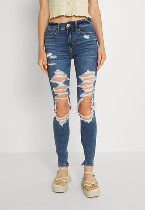 HI RISE - Jeans Skinny Fit - blown out blue