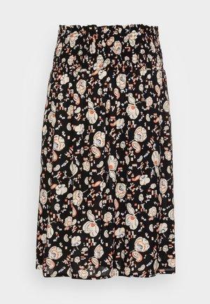 SOFT MOSS - A-line skirt -  black