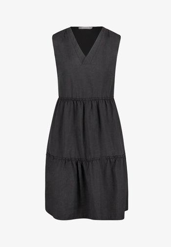 MIT RAFFUNG - Day dress - schwarz