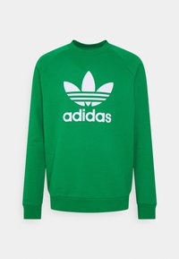 adidas Originals - TREFOIL CREW UNISEX - Bluza - green/white - 0