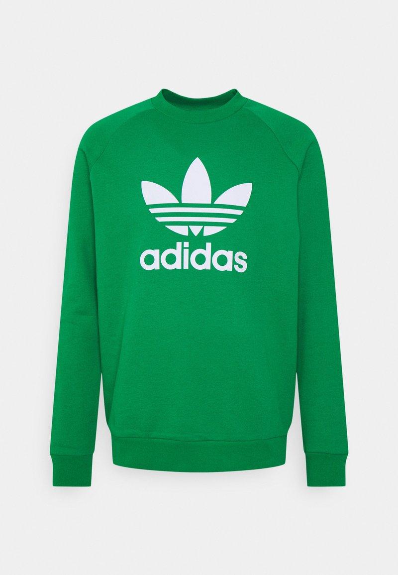adidas Originals - TREFOIL CREW UNISEX - Bluza - green/white