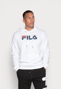 Fila - PURE HOODY - Huppari - bright white - 0