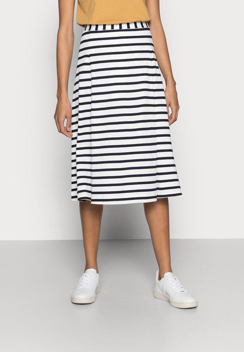 Marc O'Polo - JERSEY SKIRT - A-line skirt - multi/dark blue