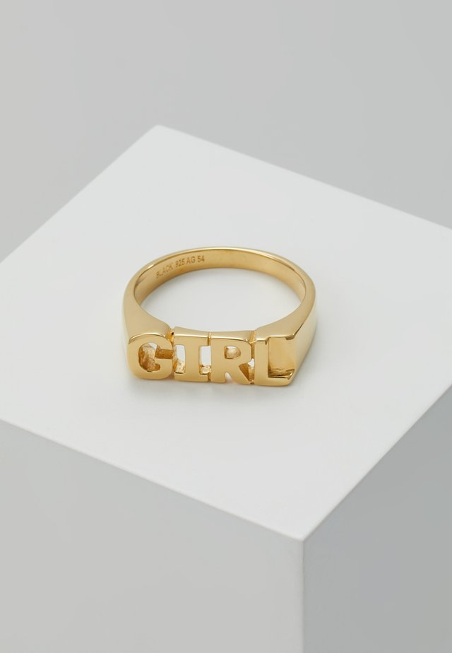 GIRL RING - Anello - gold-coloured